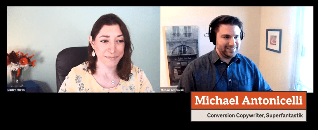 michael and maddy on a webinar
